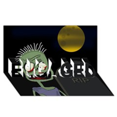 Halloween zombie on the cemetery ENGAGED 3D Greeting Card (8x4)