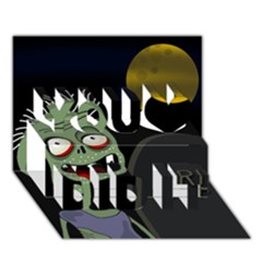 Halloween zombie on the cemetery You Did It 3D Greeting Card (7x5)