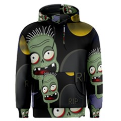 Halloween zombie on the cemetery Men s Pullover Hoodie