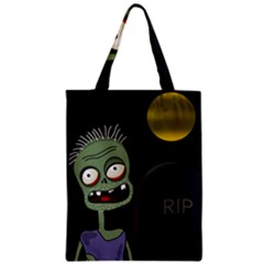 Halloween zombie on the cemetery Zipper Classic Tote Bag