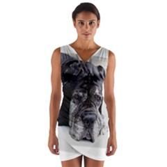 Neapolitan Mastiff Wrap Front Bodycon Dress