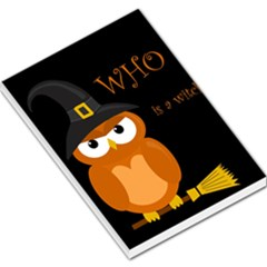 Halloween witch - orange owl Large Memo Pads