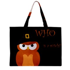 Halloween witch - orange owl Zipper Mini Tote Bag