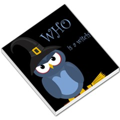 Halloween witch - blue owl Small Memo Pads