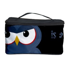 Halloween witch - blue owl Cosmetic Storage Case