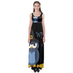 Halloween Witch   Blue Owl Empire Waist Maxi Dress