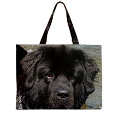 Black Newfie Large Tote Bag