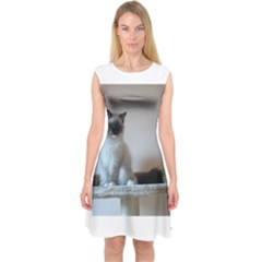 Ragdoll Kitten Capsleeve Midi Dress