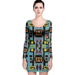 Dvd Long Sleeve Velvet Bodycon Dress