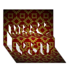 Antique Backdrop Background Baroque Miss You 3D Greeting Card (7x5)