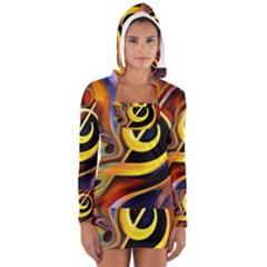 Art Oil Picture Music Nota Women s Long Sleeve Hooded T-shirt