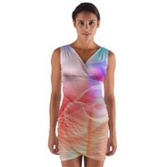 Background Nebulous Fog Rings Wrap Front Bodycon Dress