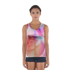 Background Nebulous Fog Rings Women s Sport Tank Top