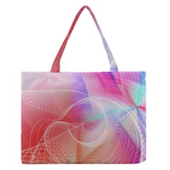 Background Nebulous Fog Rings Medium Zipper Tote Bag