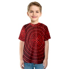 Background Structure Pattern Red Kids  Sport Mesh Tee
