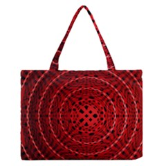 Background Structure Pattern Red Medium Zipper Tote Bag