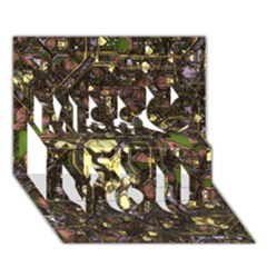 Banner Header Network Computer Miss You 3D Greeting Card (7x5)