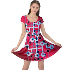 Board Circuits Trace Control Center Cap Sleeve Dresses