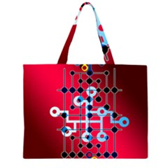 Board Circuits Trace Control Center Large Tote Bag