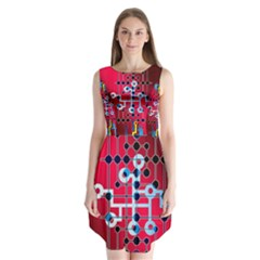 Board Circuits Trace Control Center Sleeveless Chiffon Dress