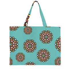 Circle Vector Background Abstract  Large Tote Bag