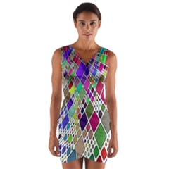 Color Table Wrap Front Bodycon Dress