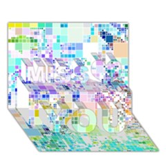 Creativity  Miss You 3D Greeting Card (7x5)