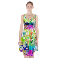 Creativity Abstract Squares  Racerback Midi Dress