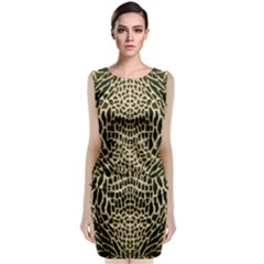Brown Reptile Classic Sleeveless Midi Dress