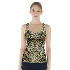 BROWN REPTILE Racer Back Sports Top