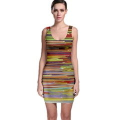 Fabric Colorful Color Pattern Sleeveless Bodycon Dress