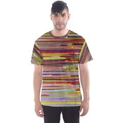 Fabric Colorful Color Pattern Men s Sport Mesh Tee