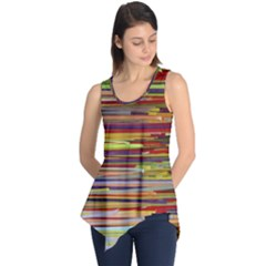 Fabric Colorful Color Pattern Sleeveless Tunic