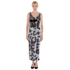 Fabric Knitting Tissue Wool Fitted Maxi Dress