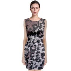 Fabric Knitting Tissue Wool Classic Sleeveless Midi Dress