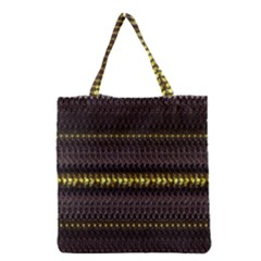 Fabric Pattern Color Structure Grocery Tote Bag