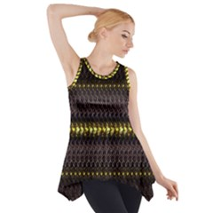 Fabric Pattern Color Structure Side Drop Tank Tunic