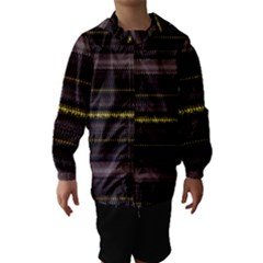 Fabric Pattern Color Structure Hooded Wind Breaker (Kids)