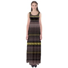 Fabric Pattern Color Structure Empire Waist Maxi Dress