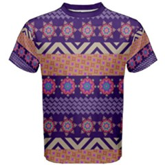 Colorful Winter Pattern Men s Cotton Tee
