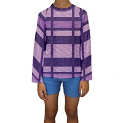 Fabric Texture Textile Surface  Kids  Long Sleeve Swimwear