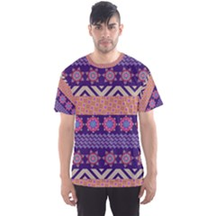 Colorful Winter Pattern Men s Sport Mesh Tee