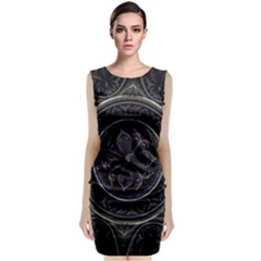 Fractal Abstract Purple Majesty Classic Sleeveless Midi Dress