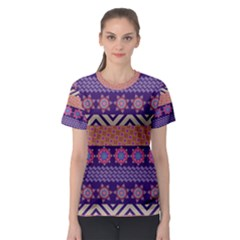 Colorful Winter Pattern Women s Sport Mesh Tee