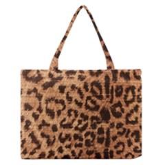 Leopard Print Animal Print Backdrop Medium Zipper Tote Bag