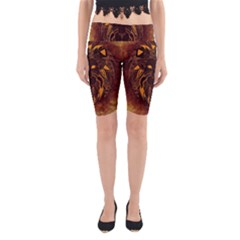 Lion Wild Animal Abstract Yoga Cropped Leggings