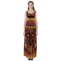 Lion Wild Animal Abstract Empire Waist Maxi Dress