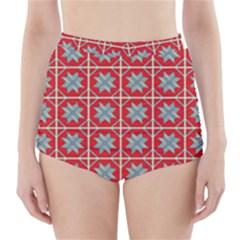 Pattern Backdrop Fabric Background High-Waisted Bikini Bottoms