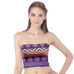 Colorful Winter Pattern Tube Top