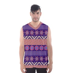 Colorful Winter Pattern Men s Basketball Tank Top